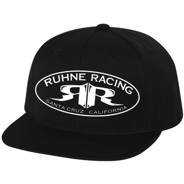 RUHNE RACING | FLAT BILL SNAPBACK CAP (BLACK)